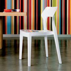 Aria - Chaise design de Bontempi Casa, en polycarbonate disponible en plusieurs couleurs, pour l'extérieur