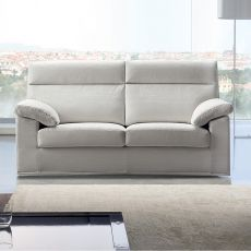 Dandy - Sofa with high backrest, totally removable covering, available in several colours and sizes