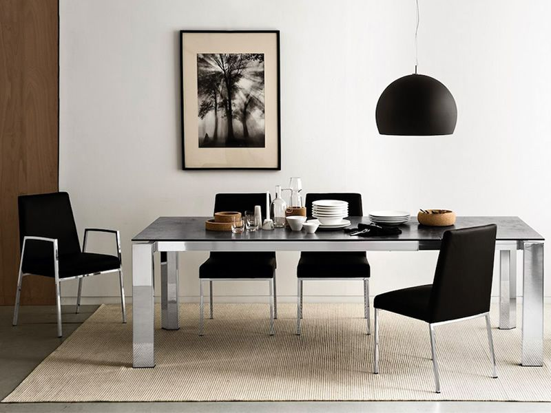 ... Matched CB1286 Amsterdam   Chromed Metal Chairs With Imitation Leather  Covering, Black Colour, Matched With