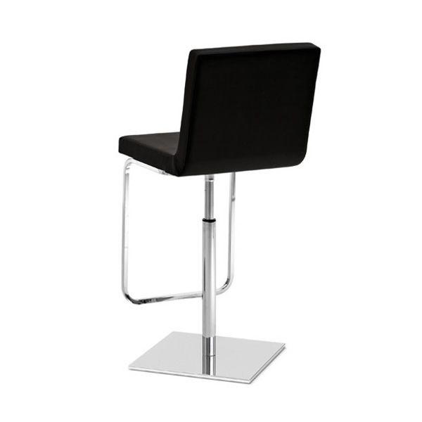 afro sg hocker domitalia aus metall drehbar und verstellbar sitz aus kunstleder in. Black Bedroom Furniture Sets. Home Design Ideas