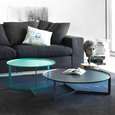 Round2 - Tavolino rotondo di design in metallo, disponibile in diversi colori e dimensioni