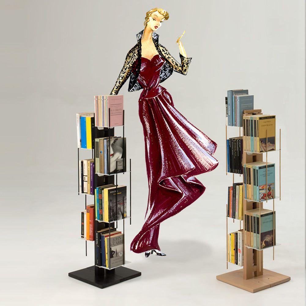 Zia Veronica C - Libreria a colonna di design in legno massello ...