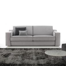 Joan - Divano a 2 posti o 2 posti XL, completamente sfoderabile, diversi colori e rivestimenti disponibili, schienale reclinabile