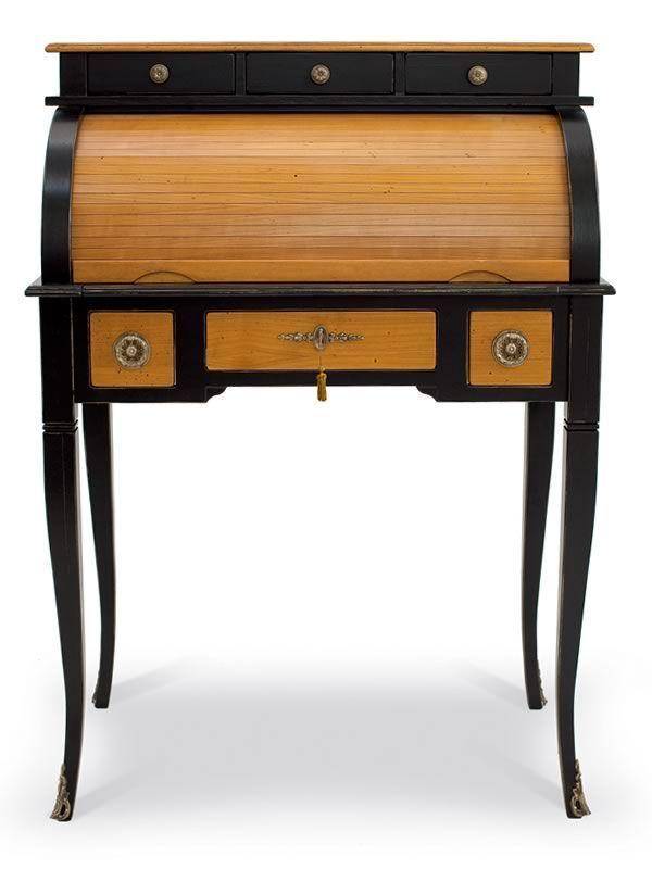 delfino 4268 bureau cylindre classique tonin casa en bois avec tiroirs en diff rentes. Black Bedroom Furniture Sets. Home Design Ideas