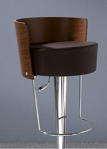 Bongo LG - Sgabello Midj in metallo, girevole e regolabile, schienale in legn...