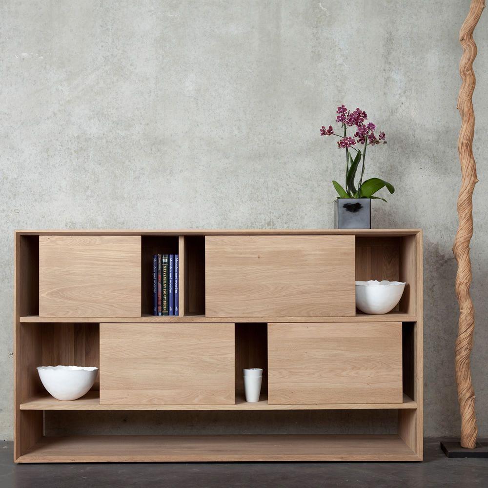 Nordic-R - Mobile soggiorno Ethnicraft in legno | Sediarreda.com