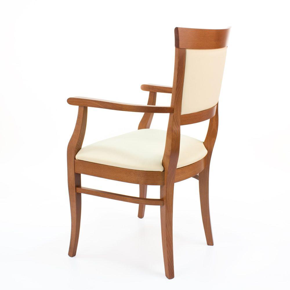 Mu43 sedia classica in legno con braccioli seduta e for Sedia antica con braccioli