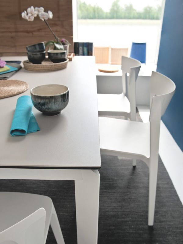 Cb4010 180 baron connubia calligaris metal table for Calligaris baron table