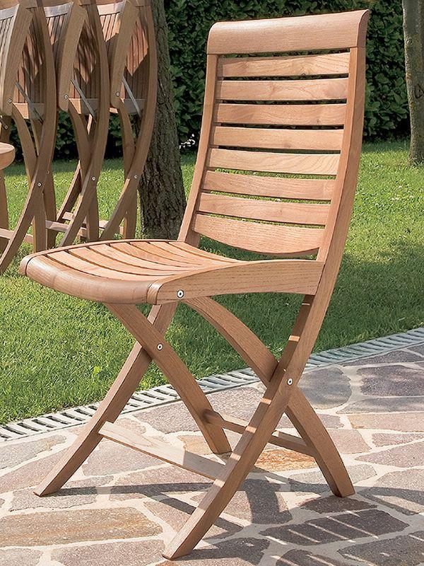 Mirage F - Sedia pieghevole in legno di robinia, per giardino ...