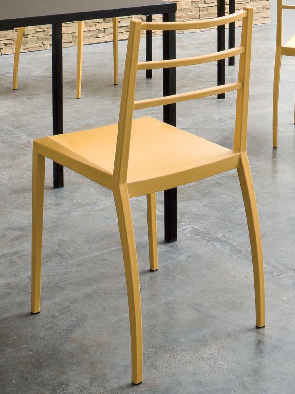 Prisma sedia moderna in tecnopolimero in diversi colori for Sedia design gialla