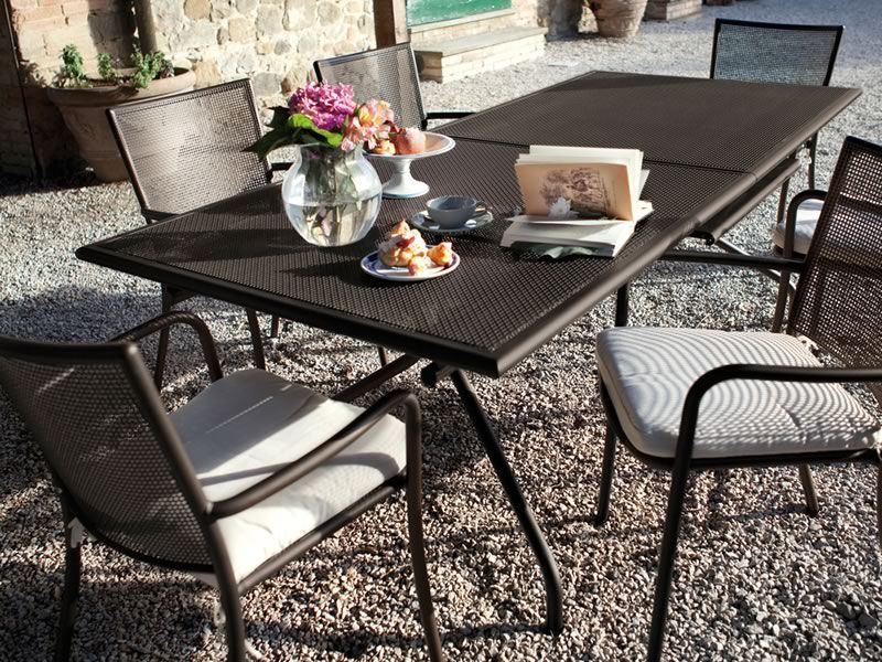 Athena 3428 emu table made of metal extendable for garden in several colours sediarreda - Table jardin naterial villeurbanne ...