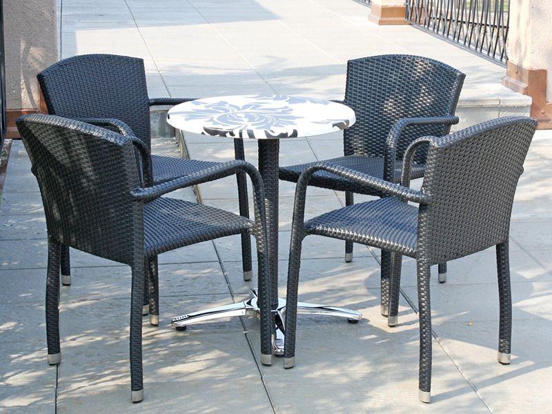 Arc175 sedia con braccioli in alluminio e simil rattan impilabile per l 39 esterno sediarreda - Sedia in rattan ...