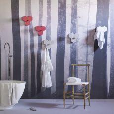 Leaf - Miniforms wall coat rack, in metal