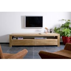 Double-TV - Ethnicraft TV stand made of wood with drawers, different sizes available