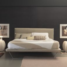 Vola - Padded double bed, several coverings and sizes available