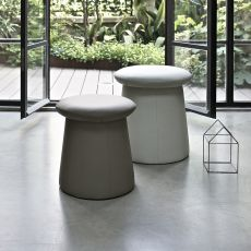 Tone - Pouf container Bontempi Casa, upholstered in various fabrics or imitation leather, available in different sizes