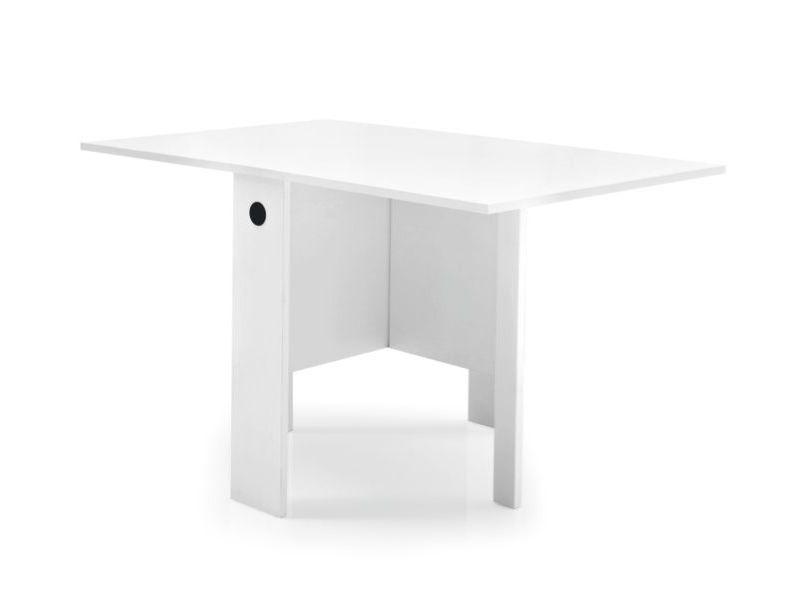 Tavolo Pieghevole Bianco : Cb spazio tavolo consolle connubia calligaris in