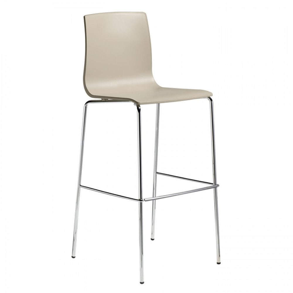 Alice 2575 | Metal stool, dove grey colour