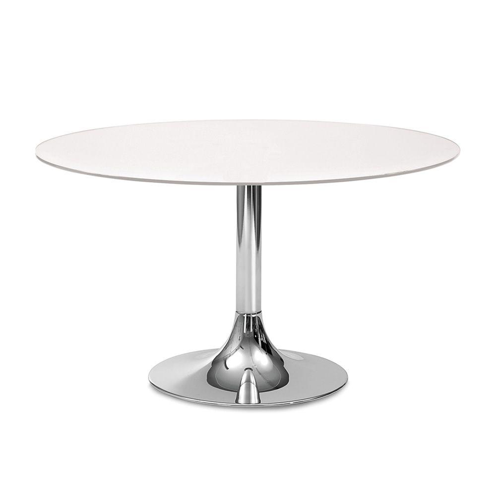 Corona 120 tavolo rotondo domitalia in metallo piano in vetro o mdf diametro 120 cm - Tavolo rotondo vetro diametro 120 ...