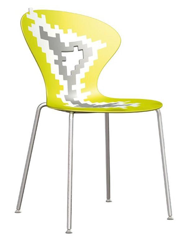 Big bang sedia di design in metallo e tecnopolimero for Sedia ufficio gialla
