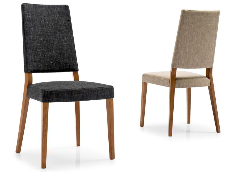 Cb1260 b sandy pour bars et restaurants chaise en bois for Habillage de chaise en tissus