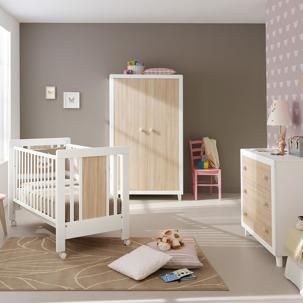 anouk s lit b b pali en bois avec tiroir sommier. Black Bedroom Furniture Sets. Home Design Ideas