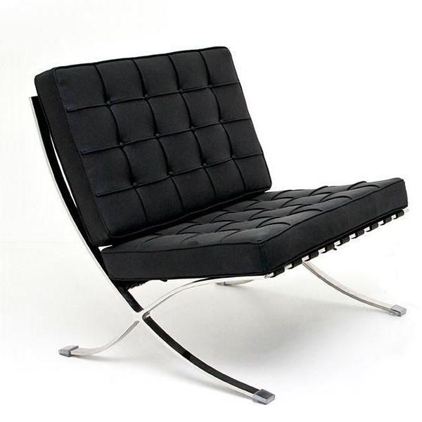 ml201 fauteuil design avec structure en acier chrom. Black Bedroom Furniture Sets. Home Design Ideas