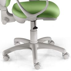 Bagger - Task chair for office, grey or black structure, with upholstered seat and backrest, with or without armrests, different finishes available