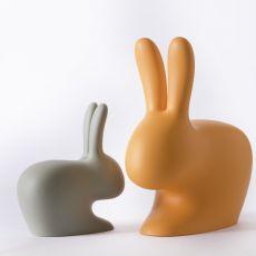 Rabbit Chair - Sedia Qeeboo a forma di coniglio, in polietilene, anche per uso esterno