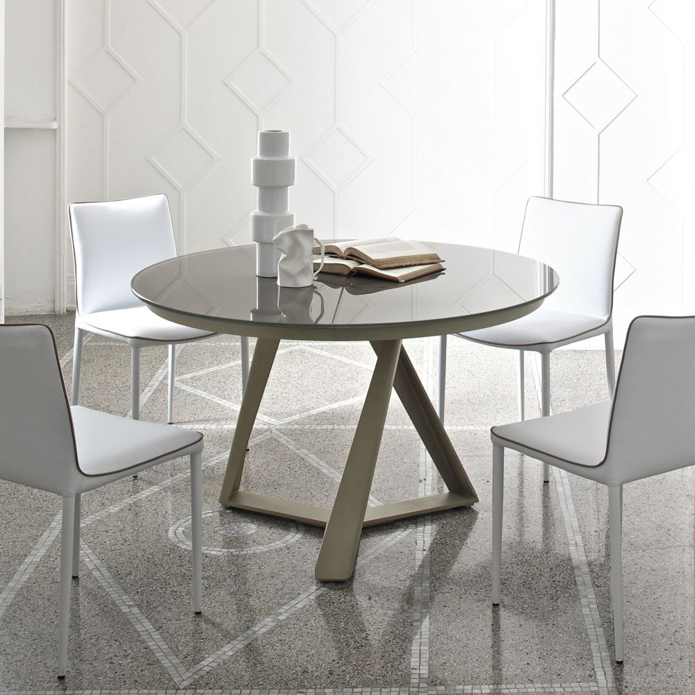 Millennium o ext table design ronde de bontempi casa en for Table ronde 110 cm avec rallonge