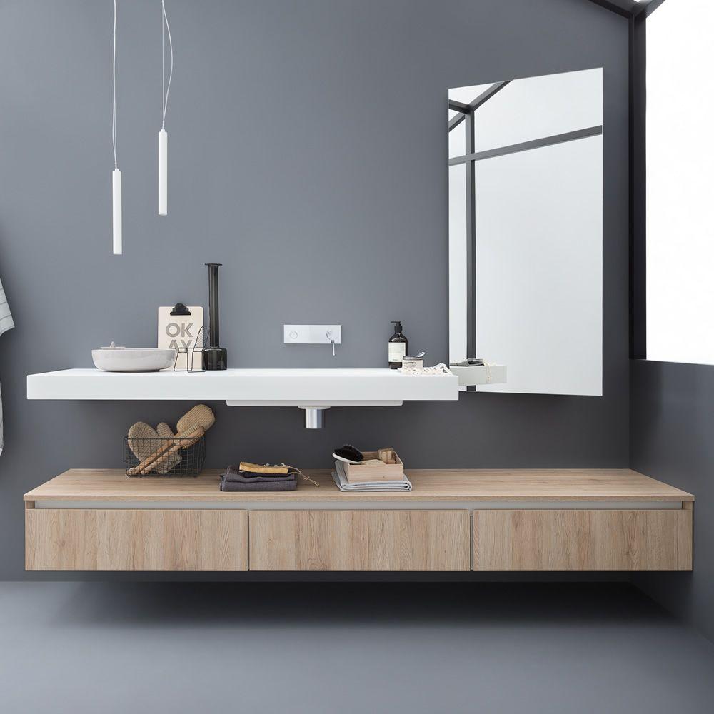 Mobile Bagno Sospeso Arancione : Mobile bagno bianco decapè ...