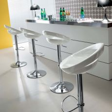 Arizona 44.47 - Swivel and height-adjustable stool, in metal and technopolymer, available in different colours