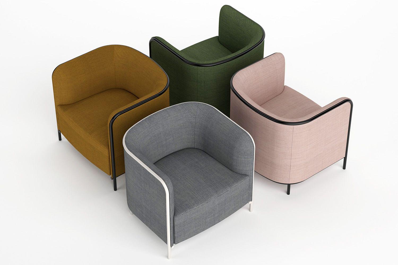 Place para bare y restaurantes sill n o sof de dos plazas con estructura de metal en - Sillon dos plazas ...