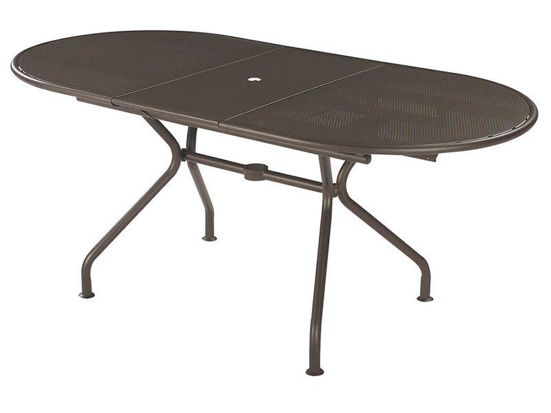 piano o table allongeable en m tal peint. Black Bedroom Furniture Sets. Home Design Ideas