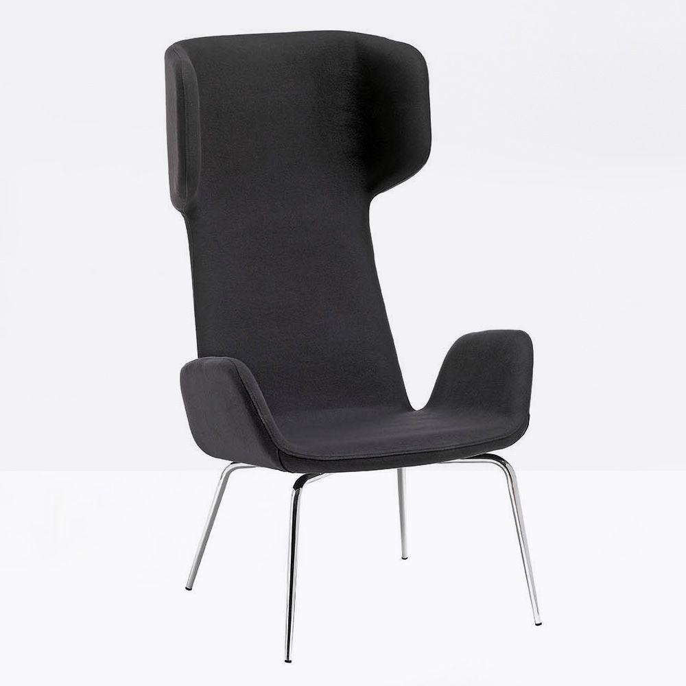 light e stuhl midj aus metall mit bezug aus leder kunstleder oder stoff sediarreda. Black Bedroom Furniture Sets. Home Design Ideas