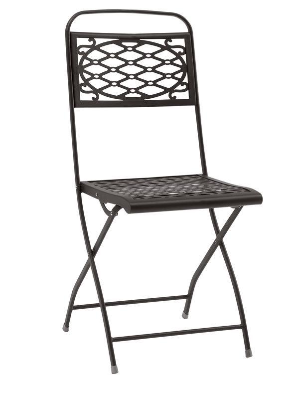 Isa 2533 silla plegable de acero para jard n sediarreda for Sillas de jardin plegables