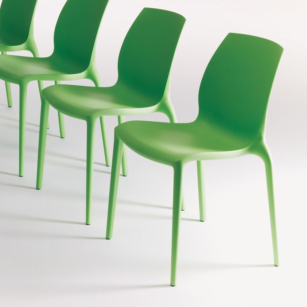 Hidra sedia impilabile bontempi casa in polipropilene for Sedia a dondolo verde