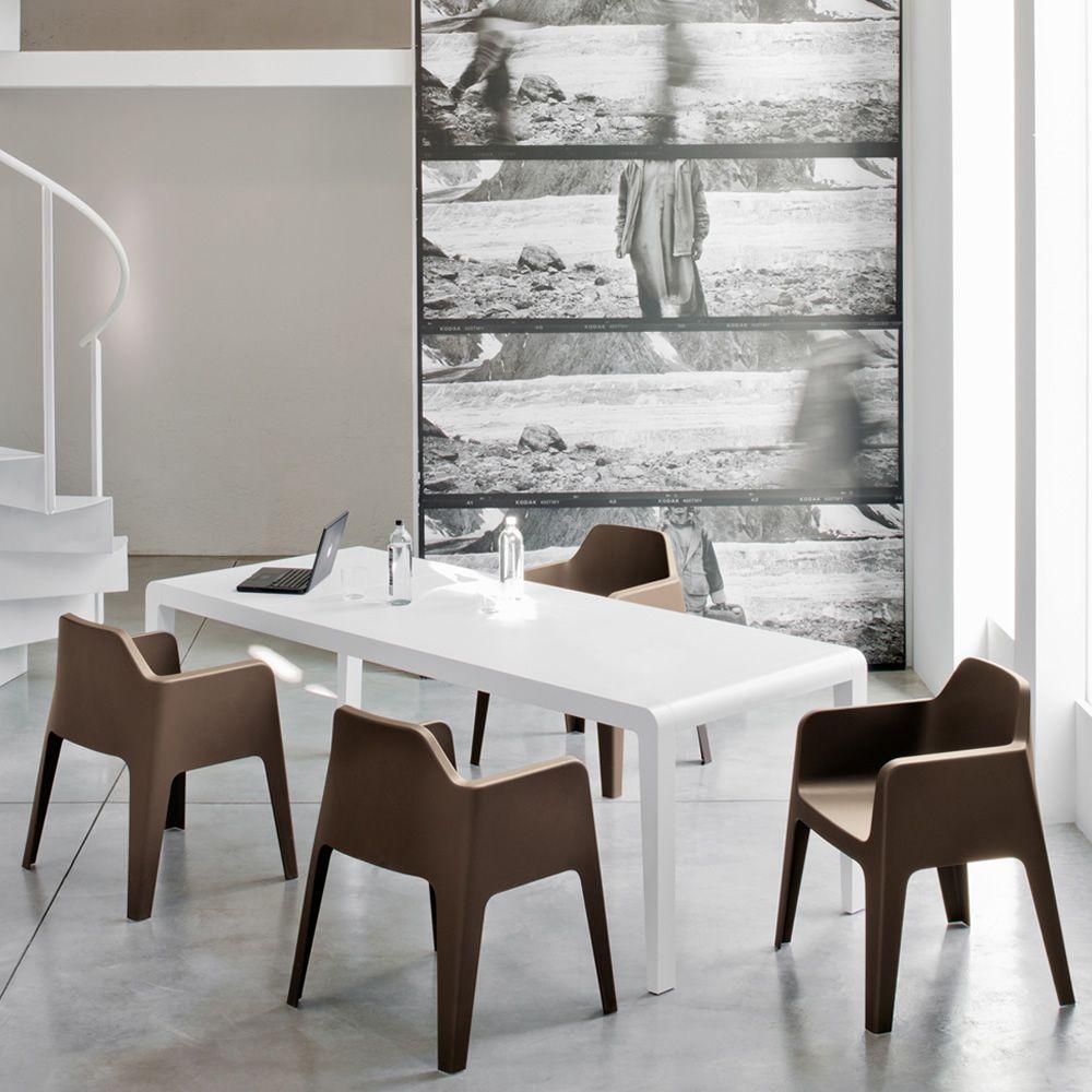 exteso tavolo pedrali in legno 180x90 cm allungabile