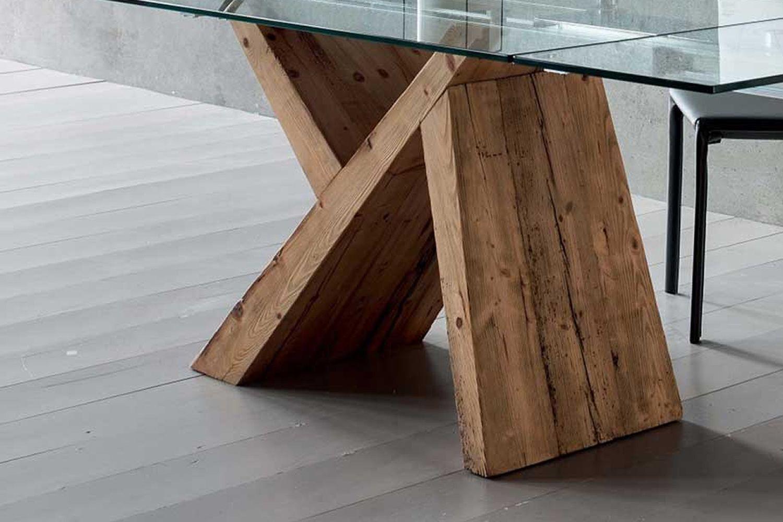 akeo f moderner holztisch fest mit tischplatte aus glas in verschiedenen gr en verf gbar. Black Bedroom Furniture Sets. Home Design Ideas