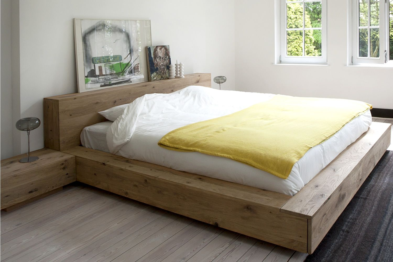madra doppelbett ethnicraft mit holzgestell in. Black Bedroom Furniture Sets. Home Design Ideas