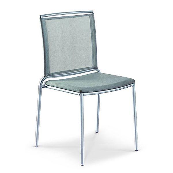 fly chaise empilable midj en m tal assise en cuir ou filet en diff rentes couleurs sediarreda. Black Bedroom Furniture Sets. Home Design Ideas