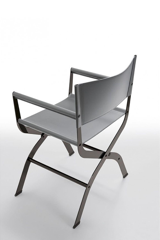 Ciak chaise midj en m tal et cuir naturel disponible en - Chaise metal cuir ...