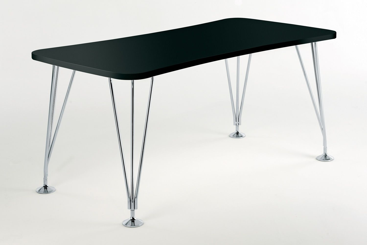 max design kartell table desk in steel and laminated wood with  -  max  design kartell table in black colour