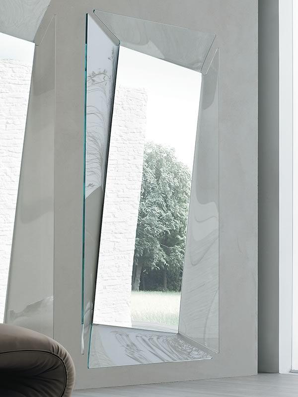 Callas-R 7528 - Specchio rettangolare Tonin Casa con cornice in vetro 108 x 200 cm - Sediarreda