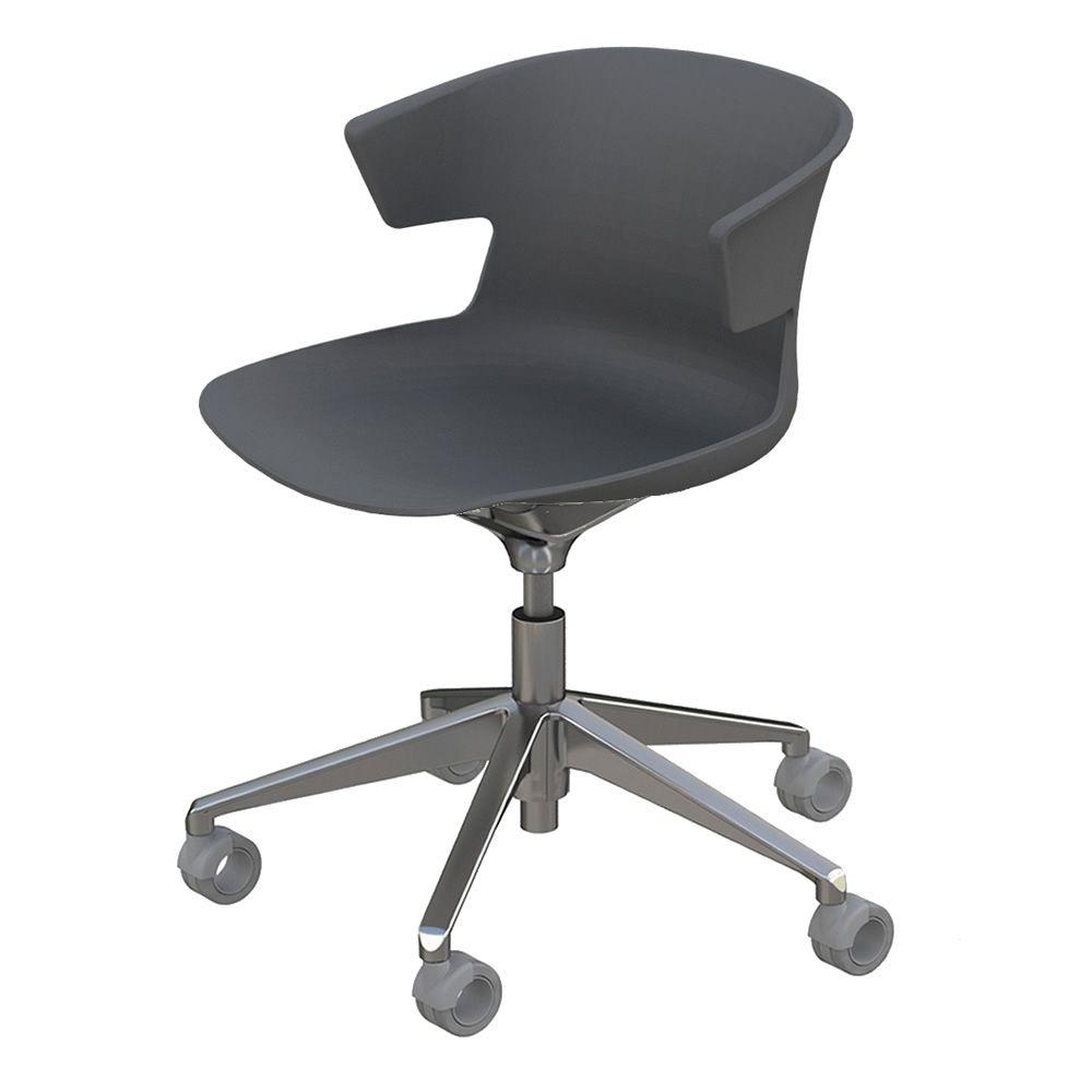Cove op sedia operativa per ufficio girevole e con ruote in metallo e polipropilene sediarreda - Sedia con rotelle per ufficio ...