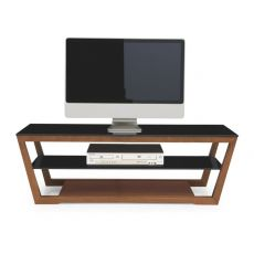 CB5069 Element - Connubia - Calligaris wooden TV holder, glass top 120 x 40 cm, different finishes available
