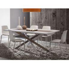 PA126A | Tavolo allungabile in metallo con piano 170x100 cm in diverse finiture