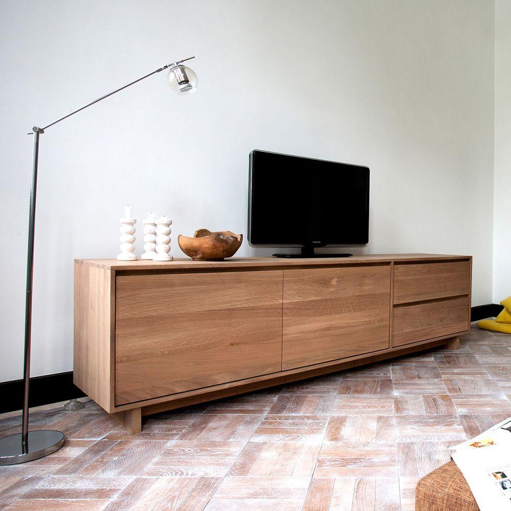 Calligaris Mobili Porta Tv.Wave Tv Ethnicraft Tv Stand Made Of Wood Sediarreda Com