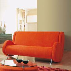 Ata XL - Divano di design Adrenalina, 3 posti, disponibile in diversi tessuti e colori