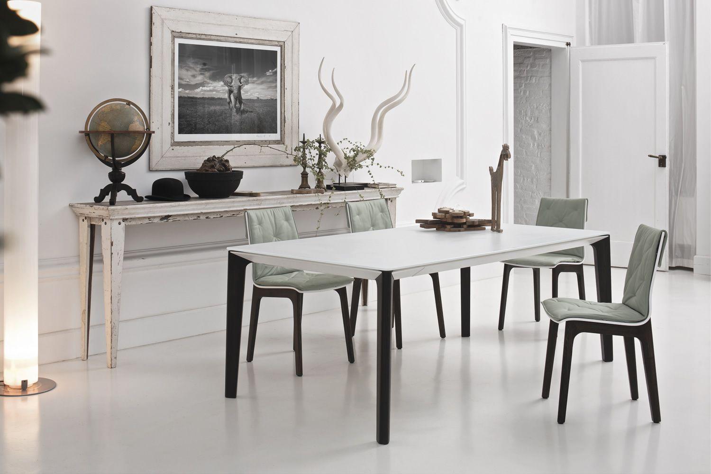 Versus ext designer tisch bontempi casa aus holz mit tischplatte